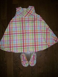 Gymboree 'Spring Rainbow' Dress & Shoes, Girls 18-24 months