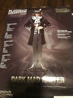 Dark Mad Hatter Costume Adult X-Large - Dark Mad Hatter
