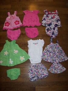 Girls Summer Clothing, Size 0-3 months
