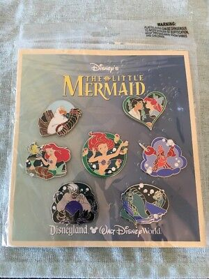 NEW ORIGINAL DISNEYPARKS THE LITTLE MERMAID 2012 TRADING COLLECTION PINS