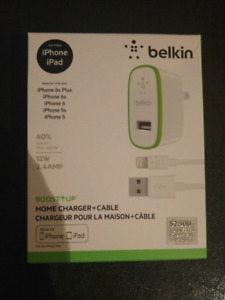 Belkin Home Charger + Cable for iPhone and iPad