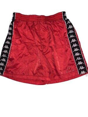 Vintage 90's Kappa Shorts Red Size Medium Rare