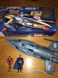 JUSTICE LEAGUE JAVELIN and FIGURES