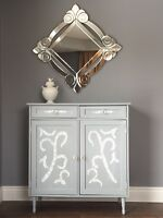 Charming hand painted cupboard