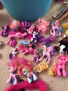 My little ponies and lil' pet shop figures and village