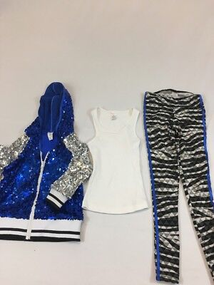 Dance Hip Hop Costume With Sequined Hoodie Size IC Weissman