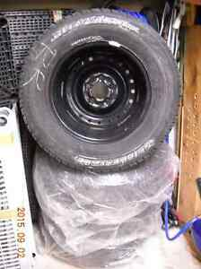 "FOR SALE Used 15"" Snow Tires on Rims"