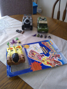 Three playsets from the 1990's. Hot Wheels.