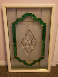 Stained & Frosted Glass EXTERIOR DOOR INSERT Window London Ontario image 2