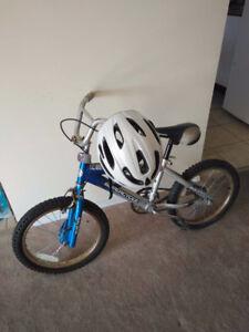 Children's bicycle and helmet