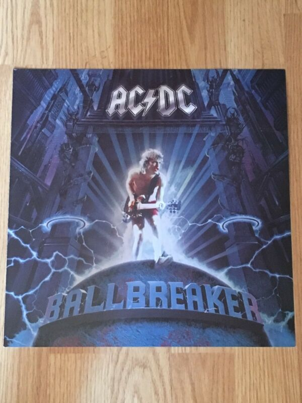 AC DC BALLBREAKER Album Flat Double Sided Display Promo-Malcolm Young 1995
