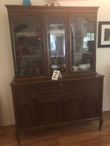 antique furniture for sale Hutches, china cabinet,pictures,radio