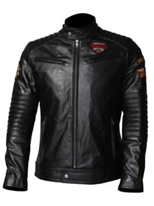 Biker Leather Jacket (Hand Embroidery)