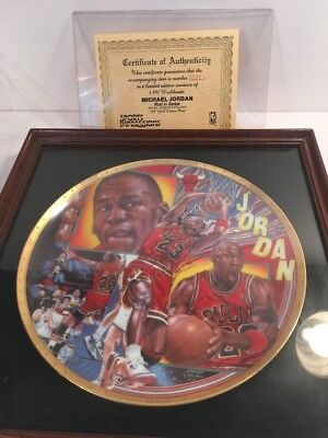 Sports Impressions NBA Collector Plate Michael Jordan #131 Gold Edition W/ Cert.
