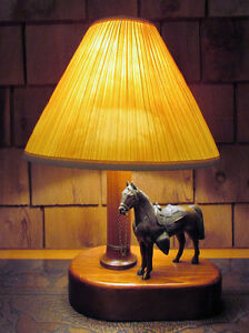 Vintage 1950s Metal Western Horse Lamp Kitchener / Waterloo Kitchener Area image 1