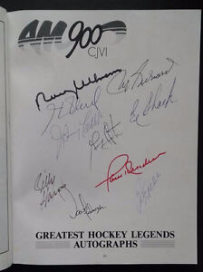 Maurice Richard, Henri Richard, Paul Henderson Signed Program