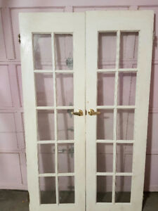 BEAUTIFUL SOLID WOOD FRENCH DOORS  MUST GO!