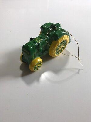 2000 Enesco John Deere GP Tractor Ceramic Hanging Christmas Ornament #E
