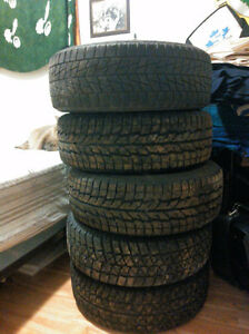 185/55 R15 winter tires and rims 4x100 bolt $200 FIRM