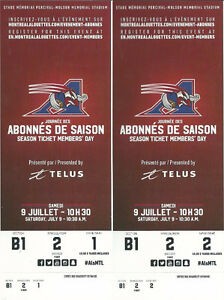 MONTREAL ALOUETTES vs Season Tickets Member's Day Tics for Sale