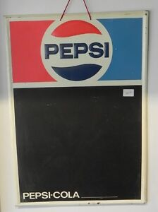VINTAGE PEPSI TIN CHALK BOARD SIGN