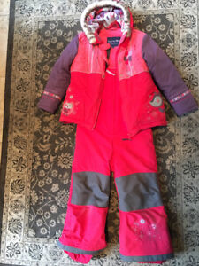 Snowsuit Souris Mini for a girl- size 4- 5 years old