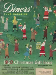 1960, DINERS' CLUB MAGAZINE, CHRISTMAS GIFT ISSUE, 118 PAGES
