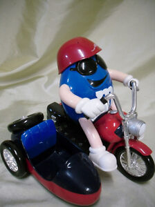 Freedom Rider M&M candy dispenser  with sidecar.