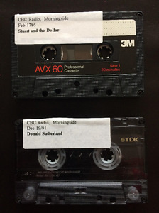 Stuart McLean, Peter Zowski and Donald Sutherland Audio Tapes