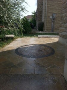 Landscaping, Interlock stone patios, walkways and driveways