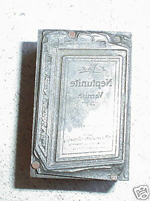 Vintage Wood Metal Neqtunite Gas Printers Block