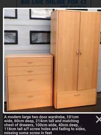 Large Modern Wardrobe and matching drawers