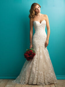Stunning Allure Bridals Lace Wedding Dress!