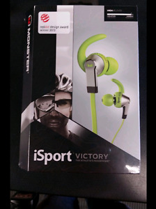 NEW. Monster ISport Victory wired ear buds