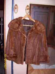 Real Muskrat Fur Coat
