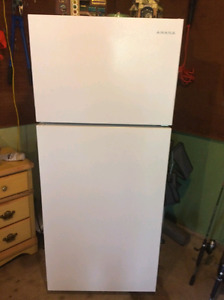 2 month old amana fridge. New condition. 500.00 o.b.o
