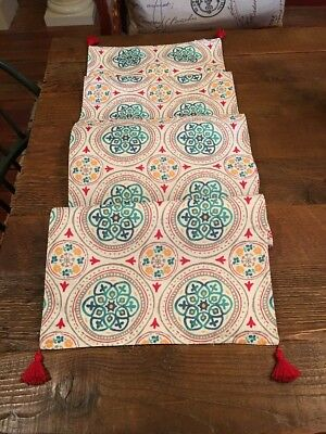 FOOD NETWORK GORGEOUS FIESTA STYLE TABLE RUNNER, 14
