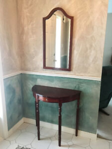 Console Table & Mirror