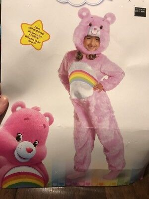 Care Bears Cheer Bear Deluxe Costume Toddler (2T) Free Shipping - Toddler Care Bear Costume