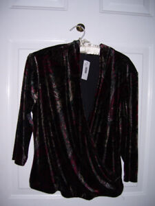 Tabi Velour Crossover Top - NWT