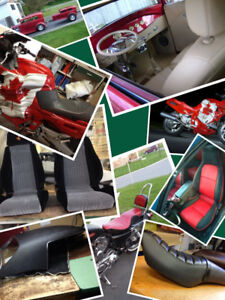 custom motorcycle seats recovered here