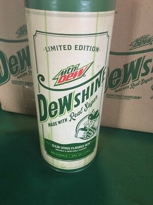 Mountain Dew DewShine 25 Oz Glass Jug Limited Edition 2015 in Sealed Packaging