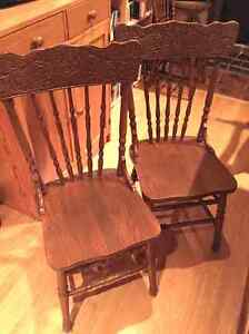 Beautiful antique dinning room chairs - Chaises antique salle à Gatineau Ottawa / Gatineau Area image 2