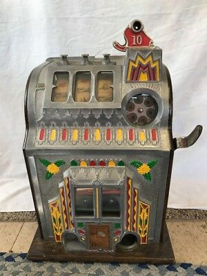 Vintage Rare 10 Cent Pace Slot Machine - For Parts or Restoration - Not Working