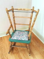 Antique Wood Child's / Display Rocking Chair - Padded Seat City of Montréal Greater Montréal Preview