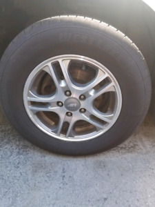 New tires on rims for sale