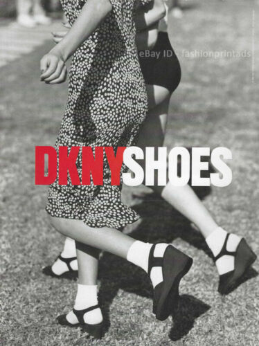 Vintage DKNY Shoes 1-Page Magazine PRINT AD Spring 1995 peter lindbergh