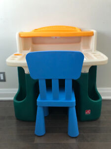 Step 2 kids art table and chair
