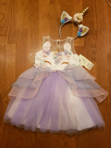 Unicorn dress with headband