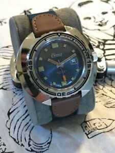 Vintage NOS 1970's Cernos French Divers Watch Huge!